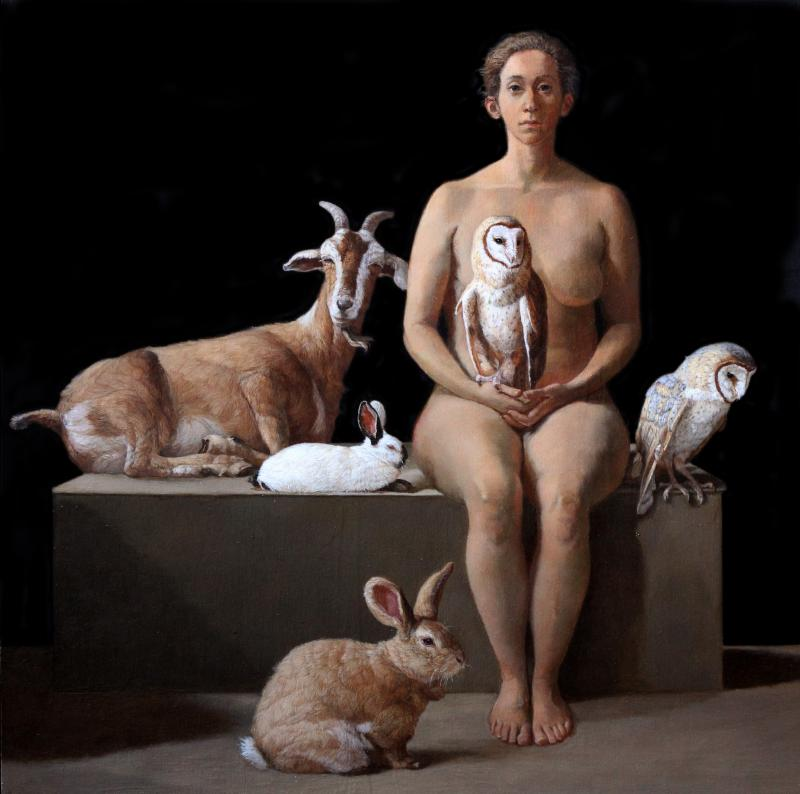 Patricia Traub Rescuer with Owls Rabbits and a Feral Goat