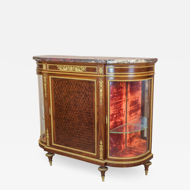 Paul Charles Sormani Gilt Bronze Mounted Parquetry Meuble d Appui by Sormani