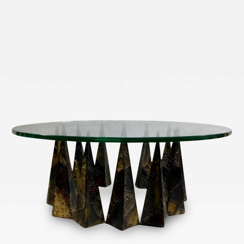 Paul Evans A Rare Sculpted Pyramid Coffee Table by Paul Evans for Directional