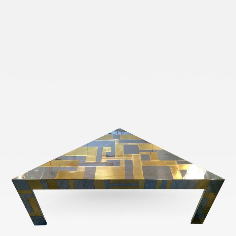 Paul Evans Illuminated Cityscape Corner Table by Paul Evan