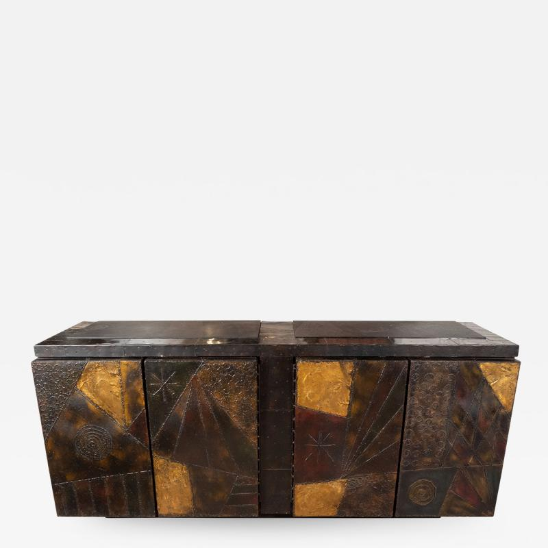 Paul Evans Model PE 40A brutalist patchwork cabinet