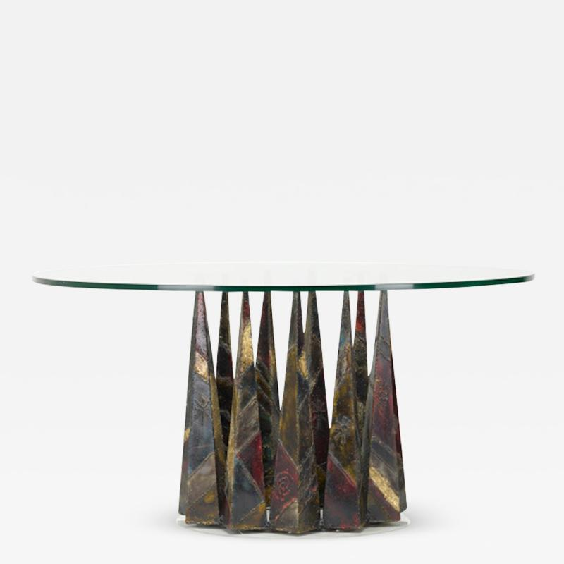 Paul Evans PAUL EVANS WELDED AND PATINATED STEEL DINING TABLE
