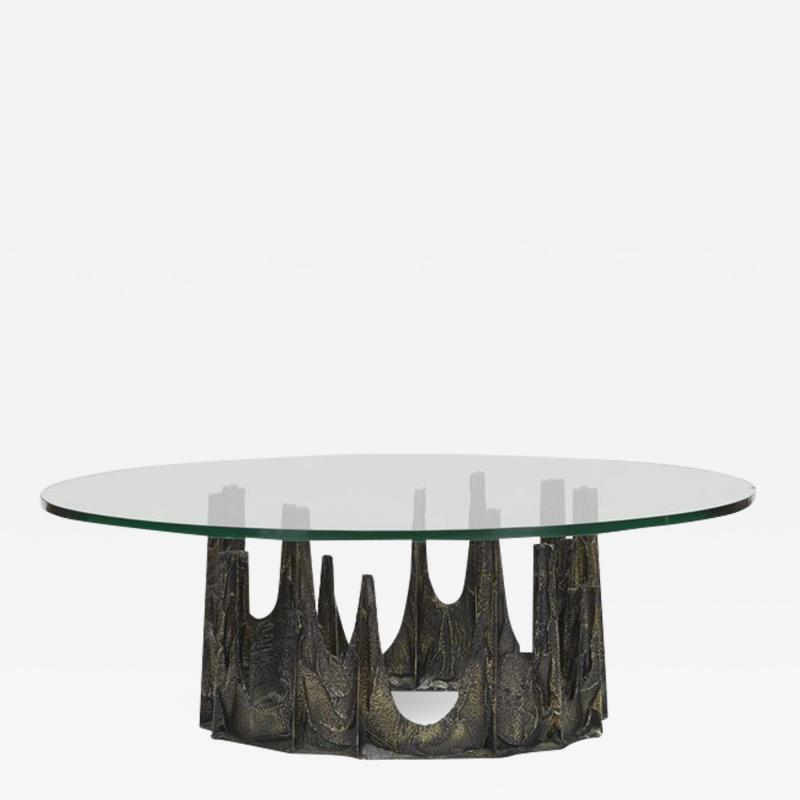 Paul Evans Paul Evans Bronze and Glass Stalagmite Coffee Table