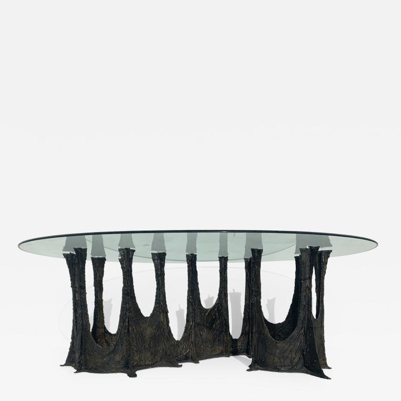 Paul Evans Paul Evans Brutalist Bronze Stalagmite Dining Table