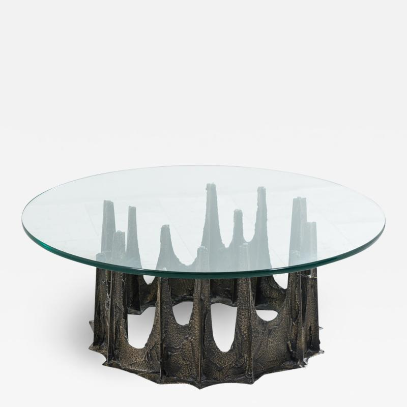 Paul Evans Paul Evans Directional Stalagmite Sculpted Bronze Low Table USA
