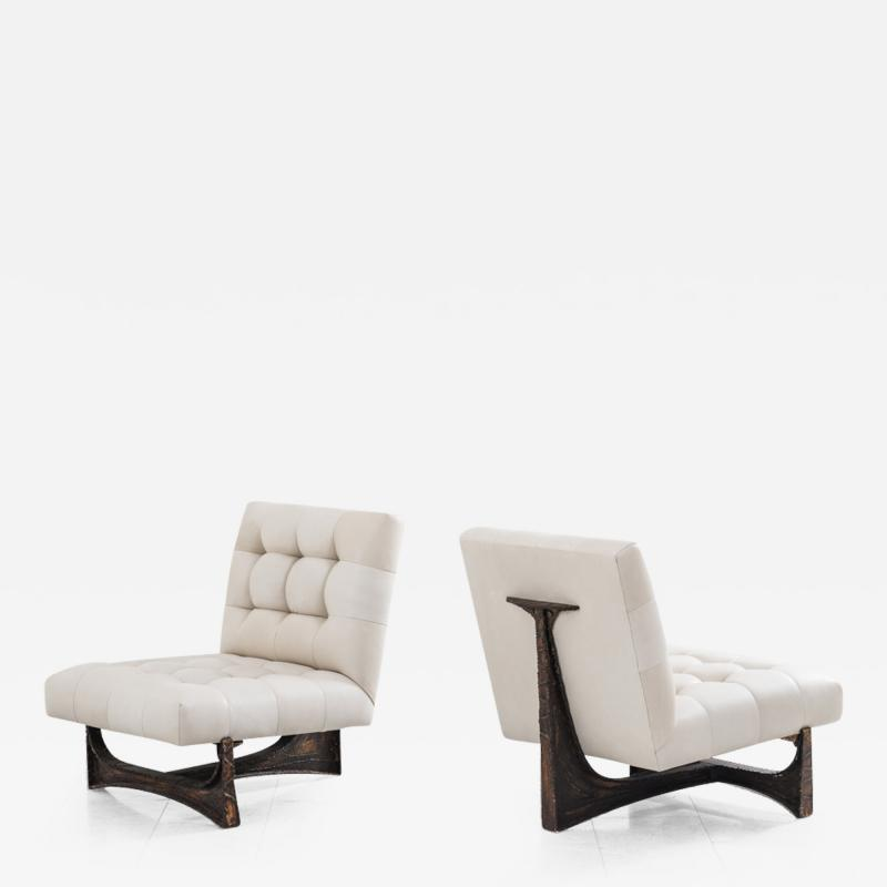 Paul Evans Paul Evans Forged Steel Lounge Chairs USA