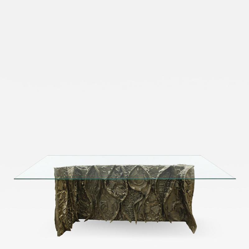 Paul Evans Paul Evans Rare and Important Wavy Front Dining Table 1970s signed