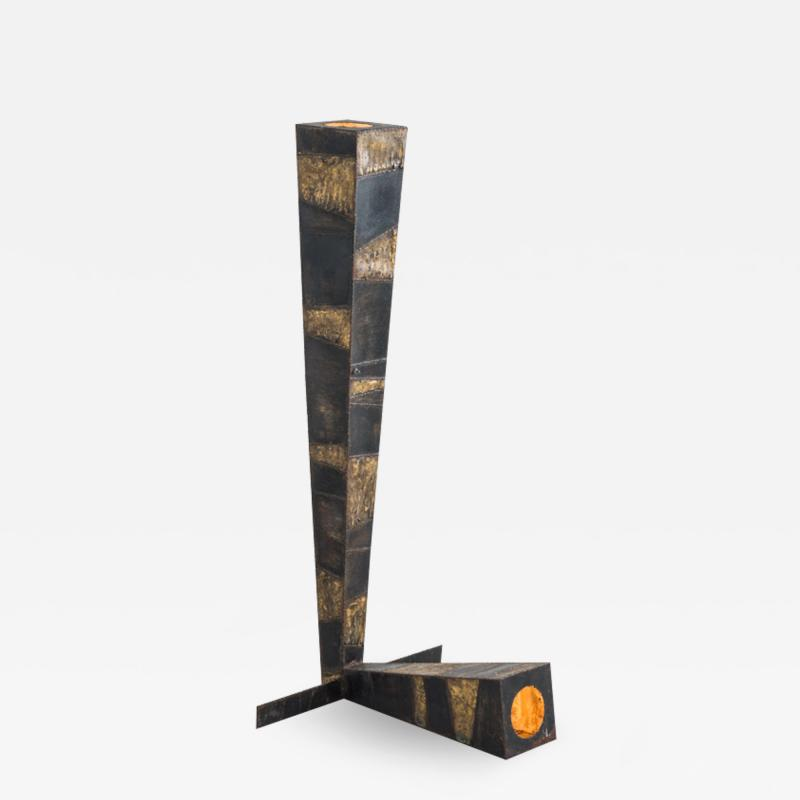 Paul Evans Paul Evans Sculpted Steel Floor Lamp USA
