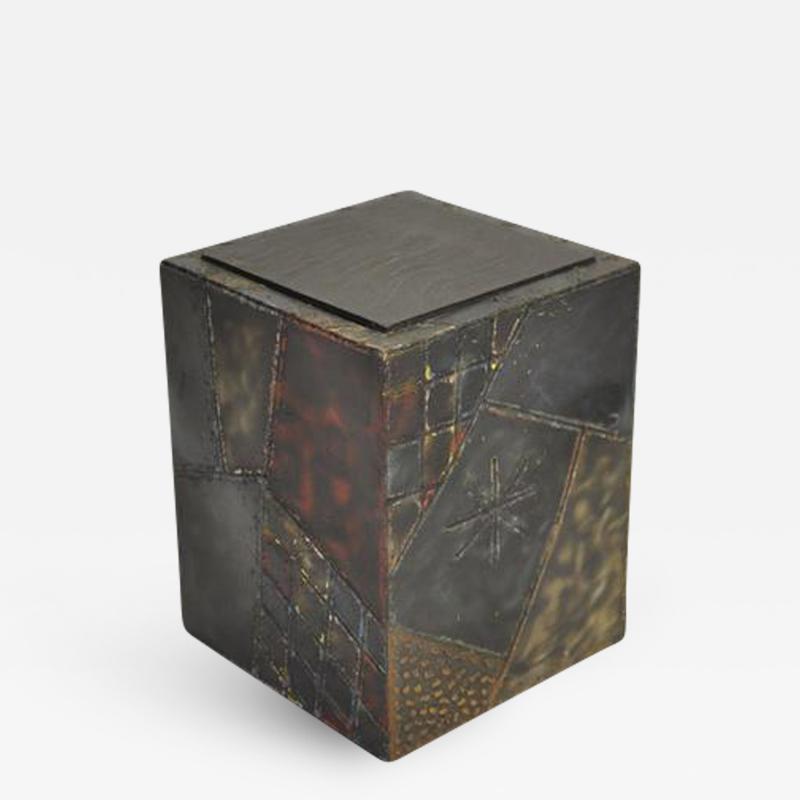 Paul Evans Paul Evans Welded Steel Cube Table