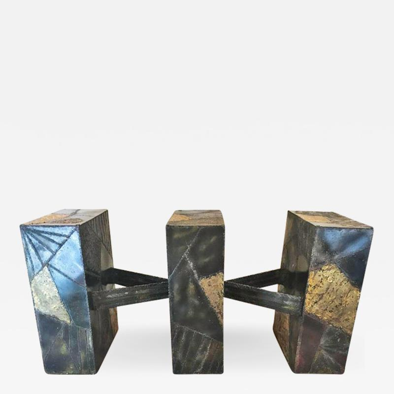Paul Evans Sculpted Metal Dining Table by Paul Evans for Directional