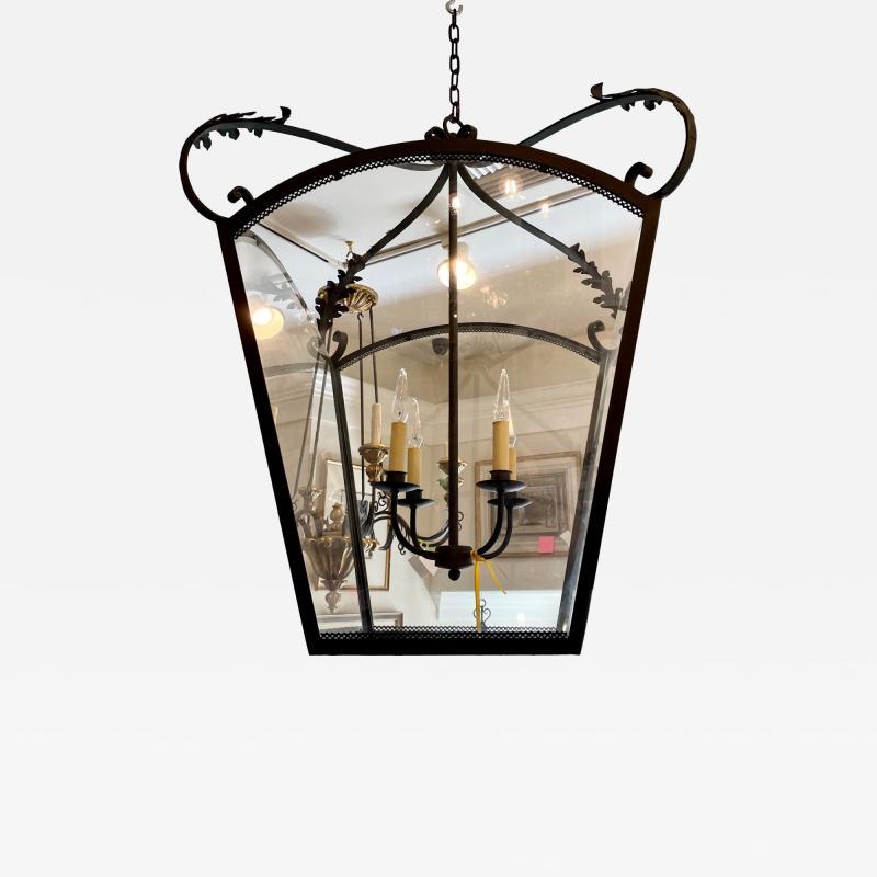 Paul Ferrante Huge Spanish Colonial Wrought Iron Lantern Chandelier