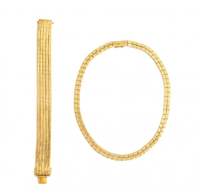 Paul Flato 18K Gold Necklace Bracelet