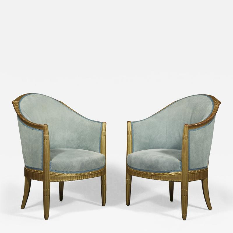 Paul Follot A Pair Of Art Deco Giltwood Berg res Attributed To Paul Follot 1877 1841