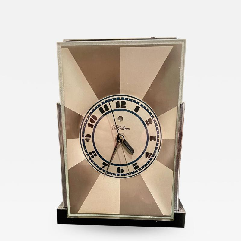 Paul Frankl Art Deco Skyscraper Warren Telechron Clock Modernique by Paul Frankl 1928