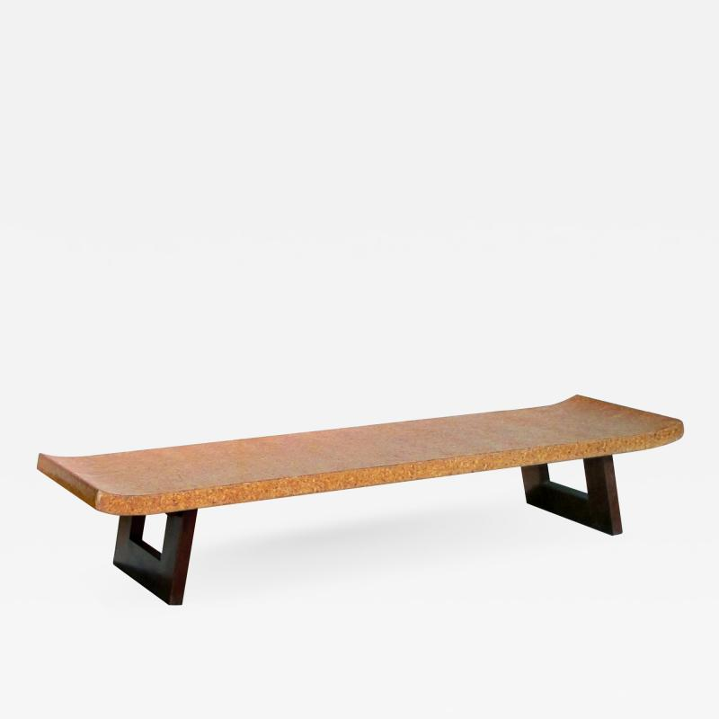 Paul Frankl Asian Inspired Paul Frankl for Johnson Furniture Cork Top Bench or Low Table