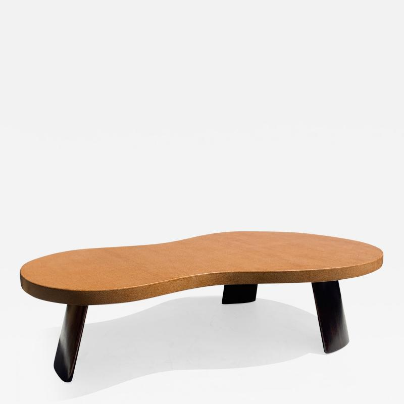 Paul Frankl Big Foot Cork and Mahogany Coffee Table