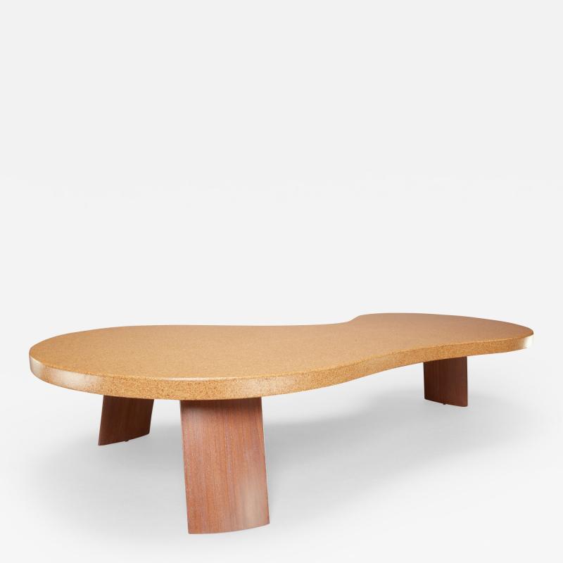Paul Frankl Bigfoot Cork and Mahogany Coffee Table Original Size