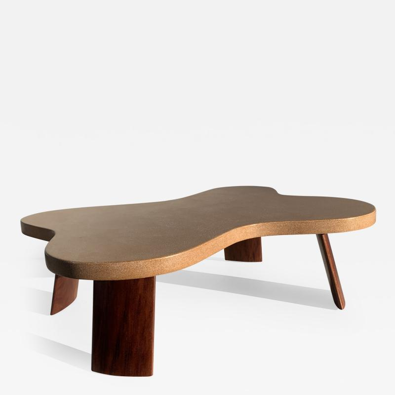 Paul Frankl Cloud Cork and Mahogany Coffee Table