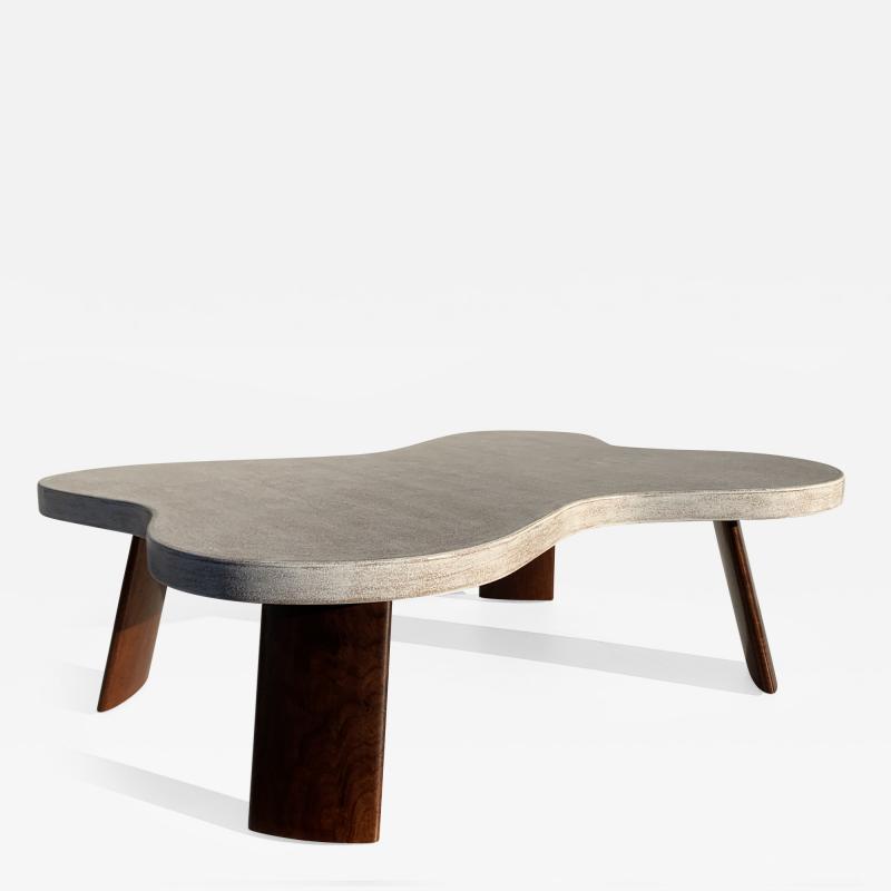 Paul Frankl Cloud Cork and Walnut Coffee Table