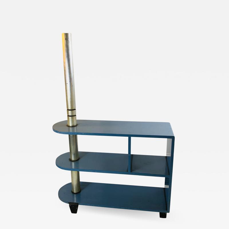 Paul Frankl MODERNIST ART DECO TRIPLE TIER SHELVES TABLE