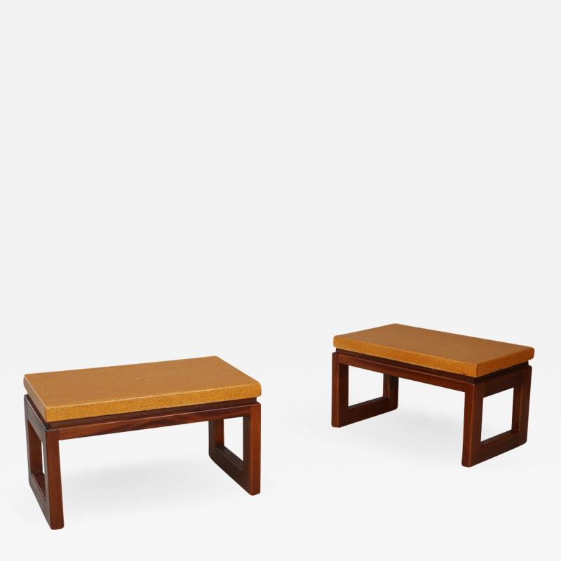 Paul Frankl Pair of Paul Frankl Cork Coffee Table 1950s