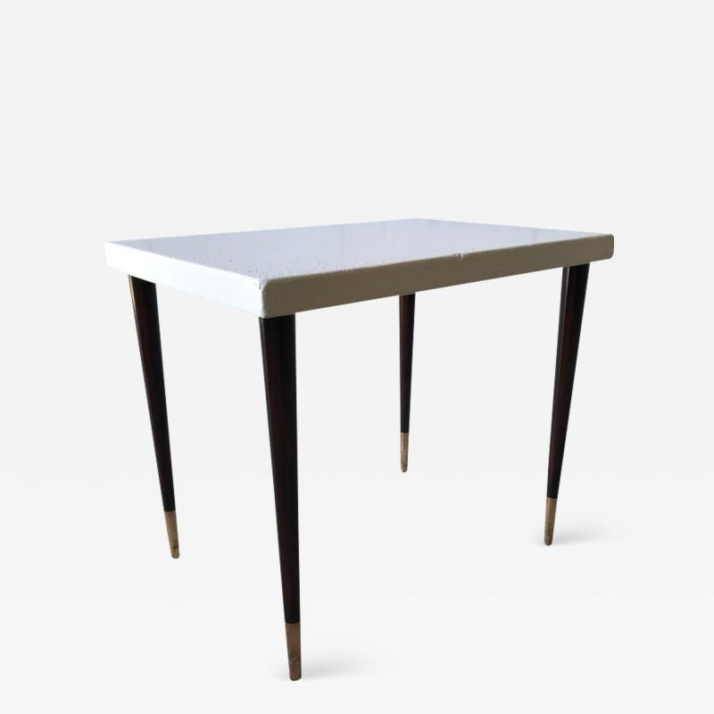 Paul Frankl Paul Frankl Cork Top Side or End Table for Johnson Furniture Company