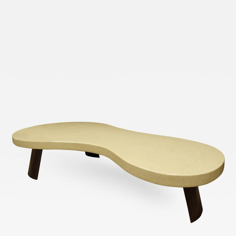Paul Frankl Paul Frankl Large Kidney Shaped Coffee Table 1950s signed