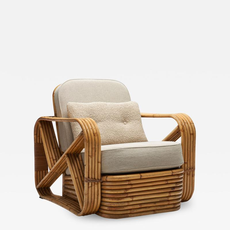 Paul Frankl Rattan Lounge Chair by Paul Frankl United States 1940s