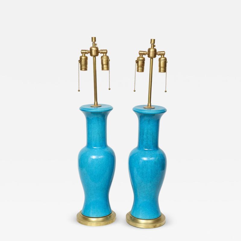 Paul Hanson Paul Hanson Cerulean Blue Porcelain Lamps