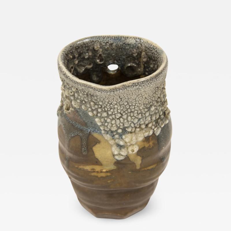 Paul Jeanneney Ceramic small vase in Japanese style by Paul Jeanneney circa 1900