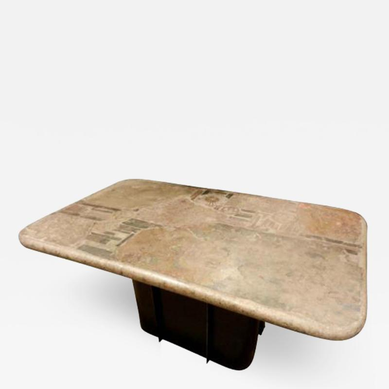 Paul Kingma A Rare Cocktail Table in Steel and Stone by Paul Kingma
