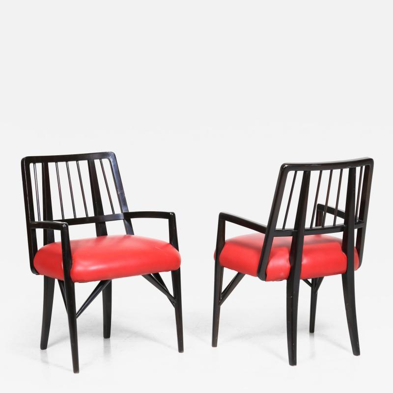 Paul L szl Set of Four Custom Designed Dining Chairs by Paul Laszlo