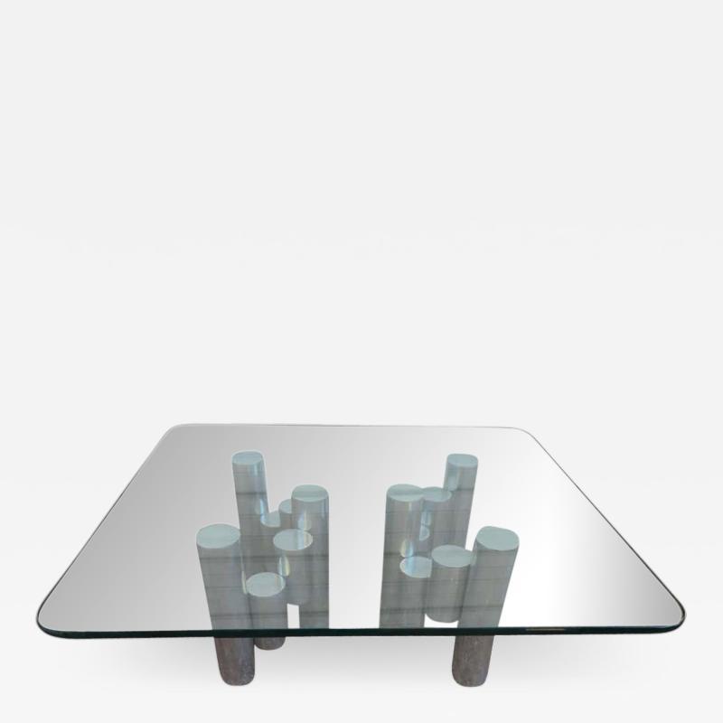 Paul Mayen Stunning Paul Mayen Habitat Aluminum Cylinder Coffee Table Mid Century Modern