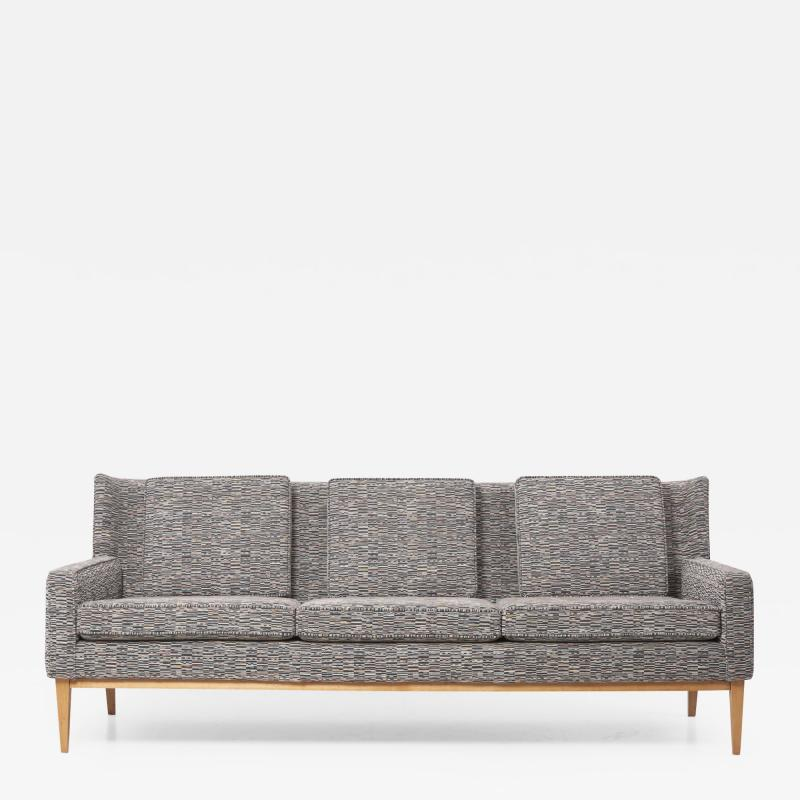Paul McCobb Newly Upholstered Wingback Sofa 1307 by Paul McCobb for Directional US 1950s