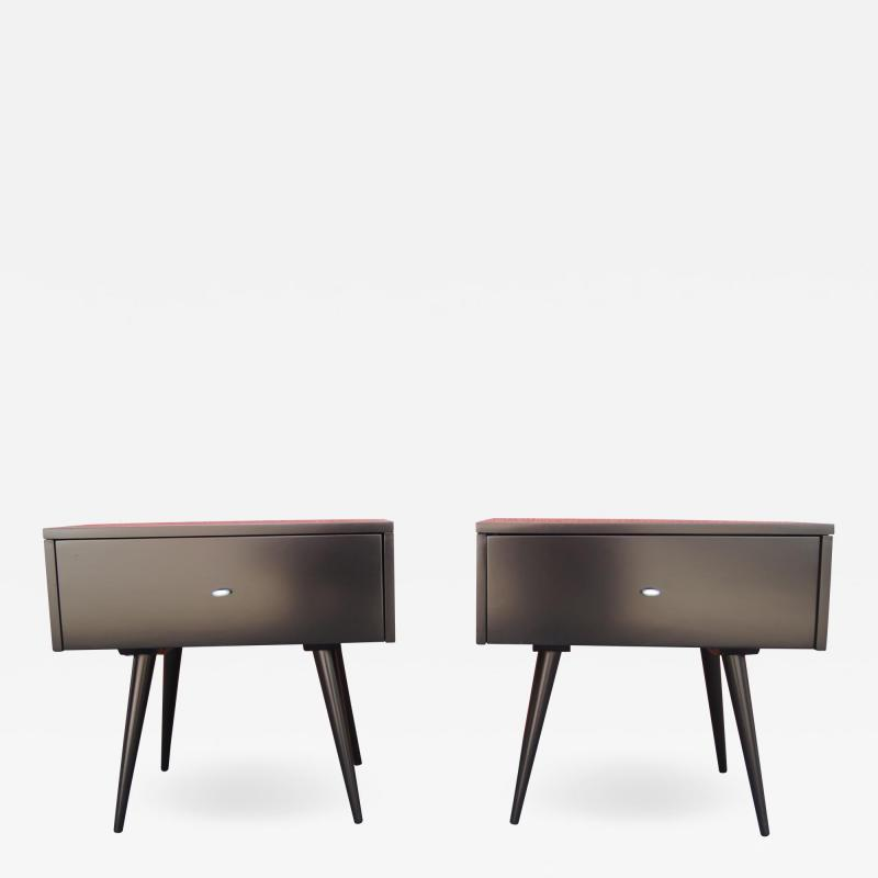 Paul McCobb Pair of Ebonized Planner Group Side Tables by Paul McCobb for Winchendon