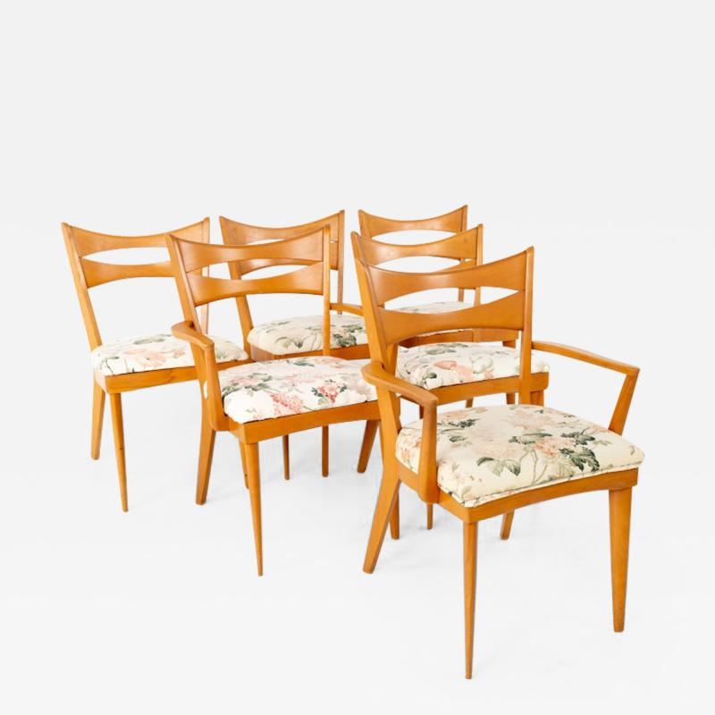 Paul McCobb Paul McCobb Style Heywood Wakefield Mid Century Bowtie Dining Chairs Set of 6
