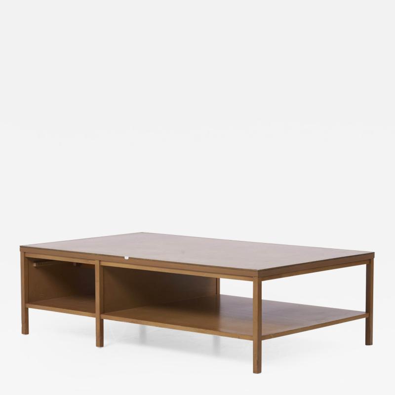 Paul McCobb Rare Paul McCobb Coffee Table with Leather Top for Calvin USA 1950s