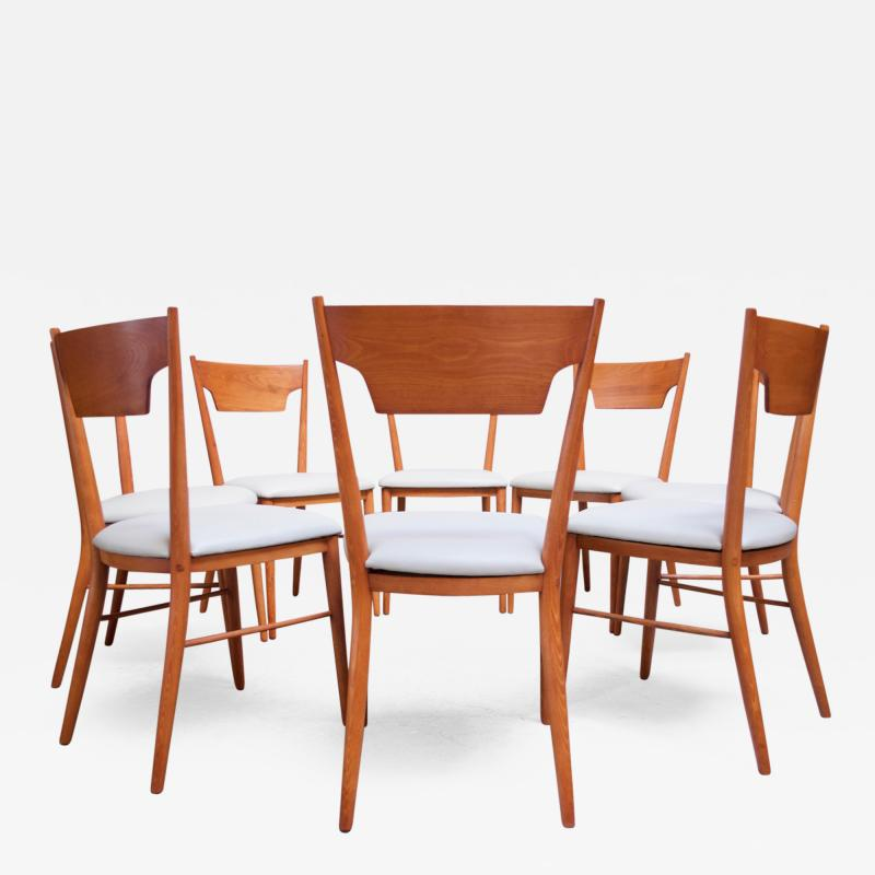 Paul McCobb Set of Eight Stained Maple Dining Chairs by Paul McCobb for Perimeter