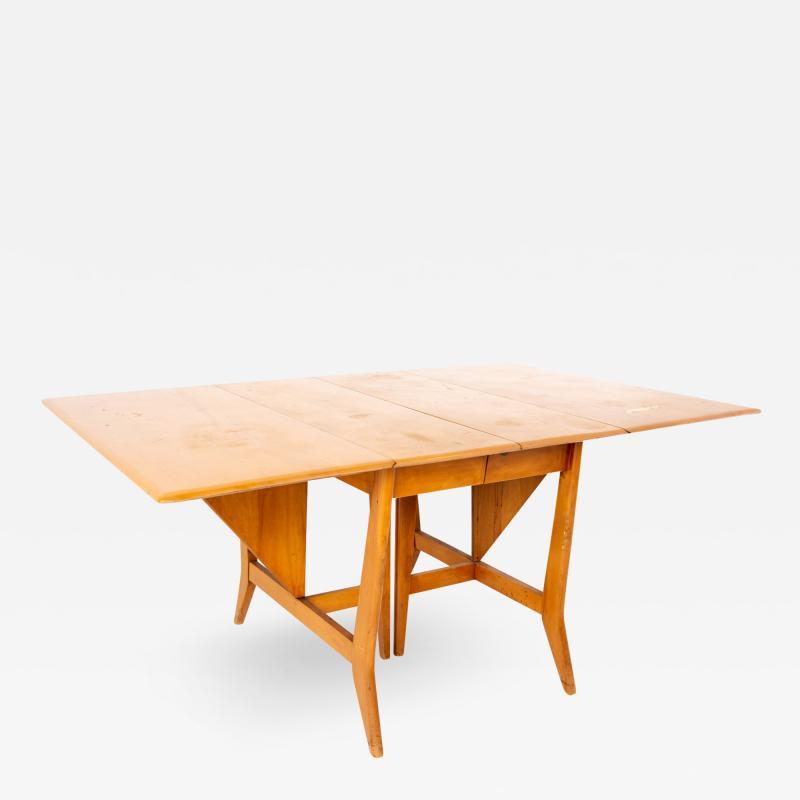 Paul McCobb Style Heywood Wakefield Mid Century Drop Leaf Dining Table