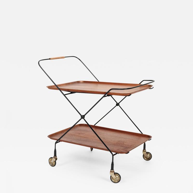 Paul Nage Design Trolley with wheels JIE Gantofta Sweden