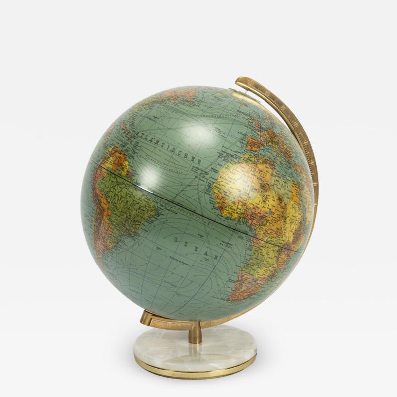 Paul Ostergaard Duplex illuminated globe with marble base 70s