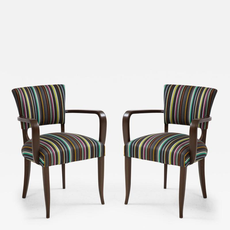 Paul Smith French 1940s Paul Smith Striped Armchairs