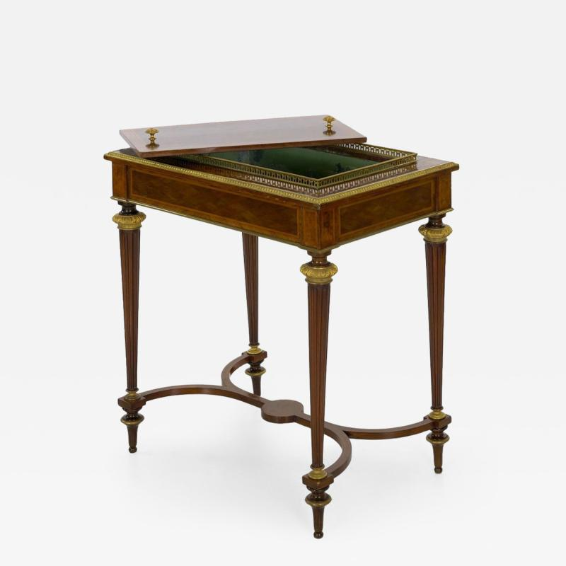 Paul Sormani French Marquetry Wine Serving Accent Table by Paul Sormani Fils