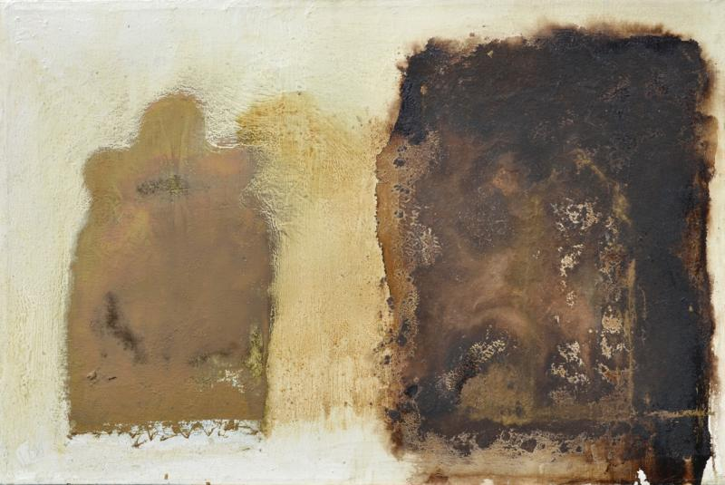 Paul Wadsworth Brown and White Abstract