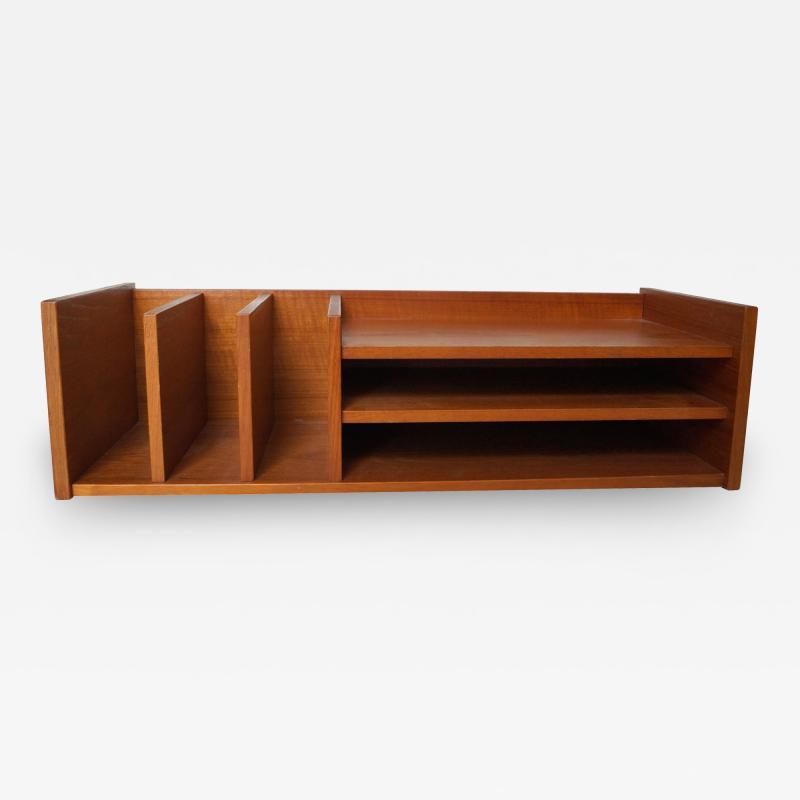 Pedersen Hansen Pedersen Hansen Danish Modern Teak Wood Desktop Desk Organizer Shelf
