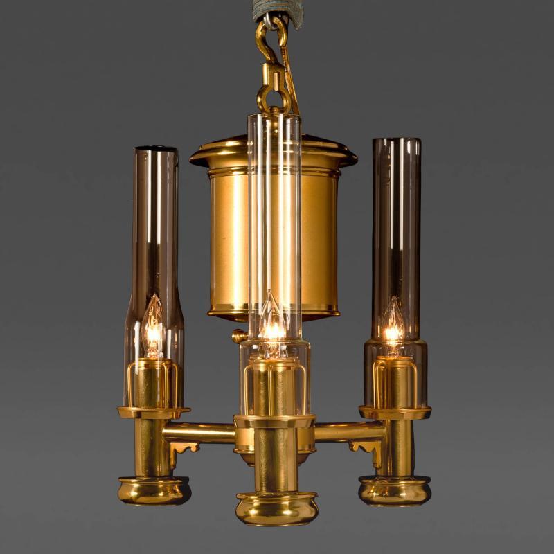 Superior Pendant 3 Light Argand Lamp