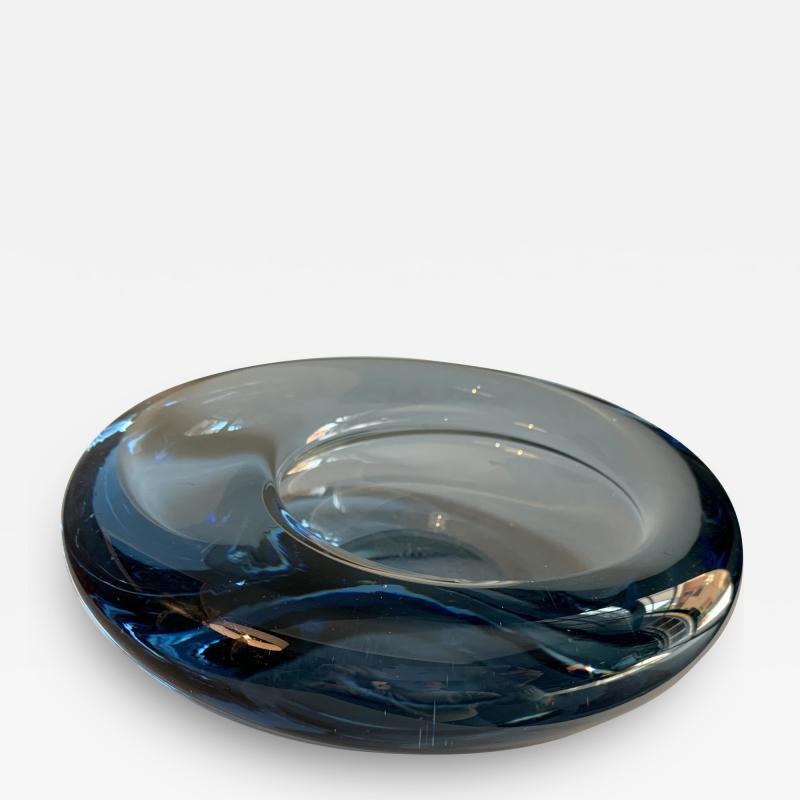 Per L tken Danish Glass Ovoid Bowl by Per L tken for Holmegaard 1960s