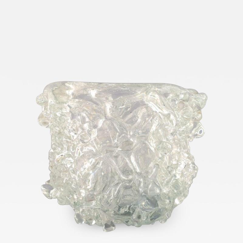 Per L tken Unique glass bowl in clear art glass