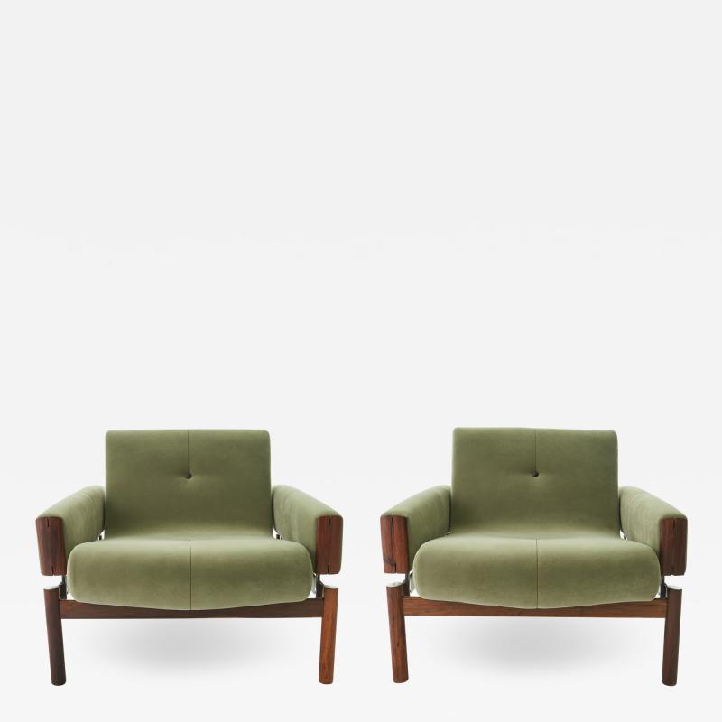 Percival Lafer 1960s Percival Lafer MP 13 Rosewood Lounge Chair Pair