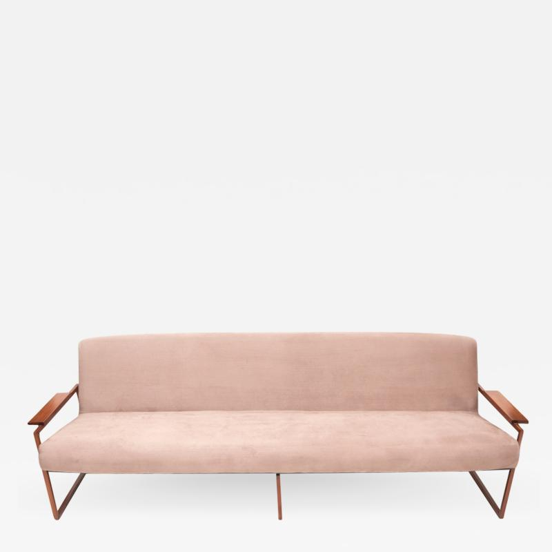 Percival Lafer Mid Century Modern Brazilian Couch by Percival Lafer